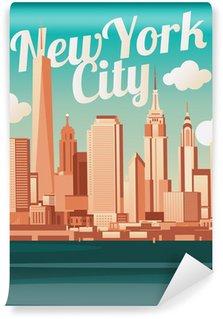 Carta da Parati in Vinile New York City Skyline