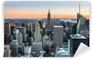 Carta da Parati in Vinile New York Skyline al tramonto