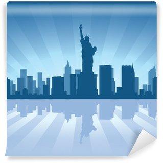 Carta da Parati in Vinile NewYork skyline con la riflessione in acqua