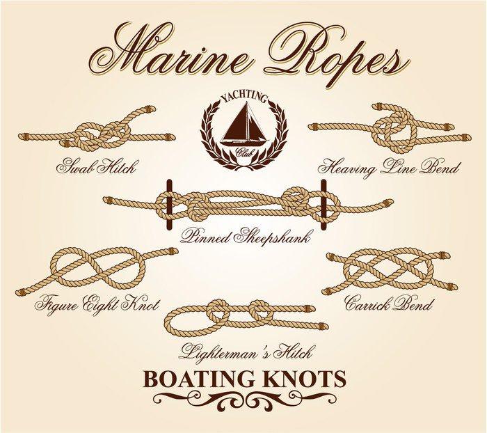 Carta da parati in vinile nodi marini elementi vettoriali for Carta parati vinile