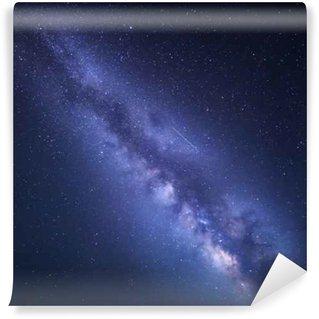 Carta da Parati in Vinile Notte cielo stellato con Via Lattea. Priorità bassa della natura