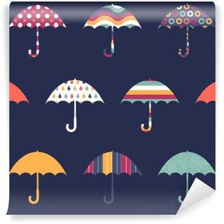 Carta da Parati in Vinile Ombrelli abbastanza sveglio colorato Childish Seamless Pattern
