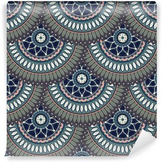 Carta da Parati in Vinile Ornate seamless texture floreale, modello senza fine con elementi d'epoca mandala.