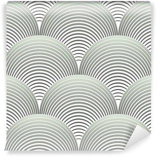 Carta da Parati in Vinile Ornato geometrica Petali griglia, astratto Vector Seamless Pattern