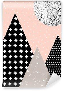 Carta da Parati in Vinile Paesaggio astratto geometrica