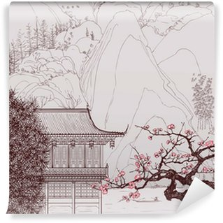 Carta da Parati in Vinile Paesaggio cinese