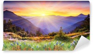 Carta da Parati in Vinile Paesaggio di montagna
