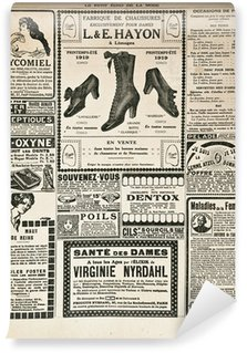 Carta da Parati in Vinile Pagina di giornale con mobili d'epoca advertisement
