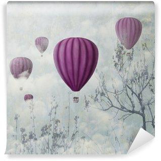 Carta da Parati in Vinile Palloncini rosa