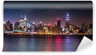 Carta da Parati in Vinile Panorama di Manhattan durante la Orgoglio Weekend
