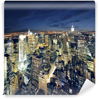Carta da Parati in Vinile Panorama mozzafiato di New York Manhattan - newyork città