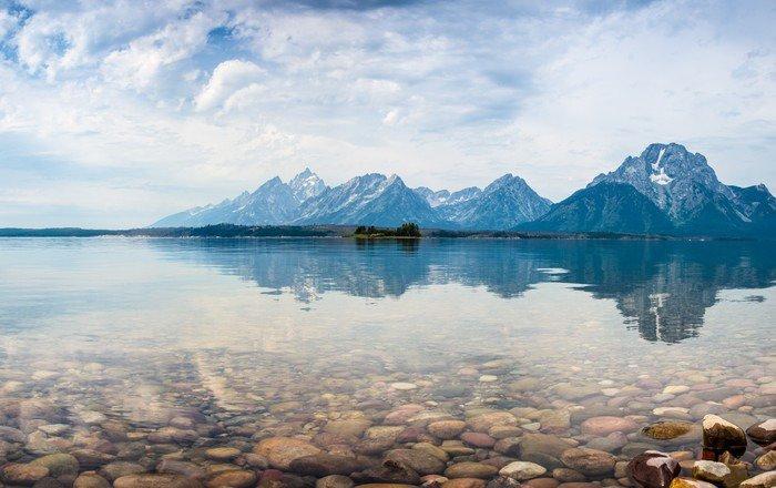Carta da Parati in Vinile Parco nazionale Grand Teton - Montagne
