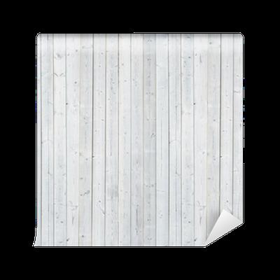 Carta da Parati in Vinile Parete di legno bianco
