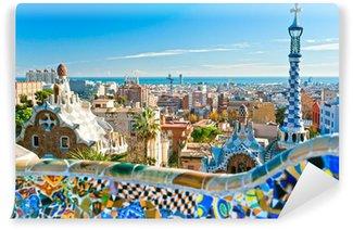Carta da Parati in Vinile Park Guell di Barcellona, Spagna.