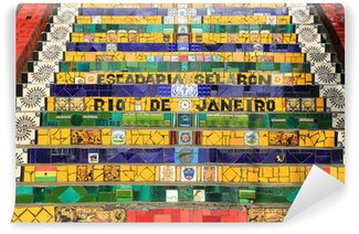 Carta da Parati in Vinile Passi in cotto a Lapa a Rio de Janeiro in Brasile