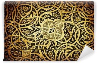 Carta da Parati in Vinile Piastrelle di fondo, ornamenti orientali da bass Uzbekistan.Tiled