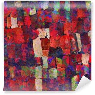 Carta da Parati in Vinile Pittura di arte astratta