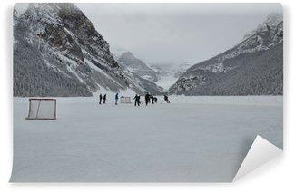 Carta da Parati in Vinile Pond Hockey