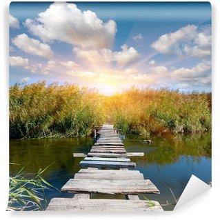 Carta da Parati in Vinile Ponte sul fiume