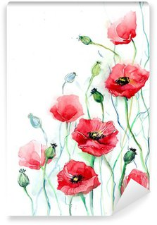 Carta da Parati in Vinile Poppy Flowers