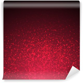 Carta da Parati in Vinile Red collegamento triangolo astratto. illustrazione di vettore