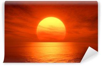 Carta da Parati in Vinile Red Sunset