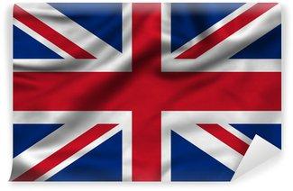 Carta da Parati in Vinile Regno Unito Union Jack bandiera
