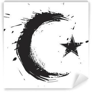 Carta da Parati in Vinile Religione simbolo islamico creato in stile grunge