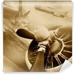 Carta da Parati in Vinile Retro aviazione, sfondo d'epoca