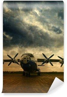 Carta da Parati in Vinile Retro aviazione sfondo grunge