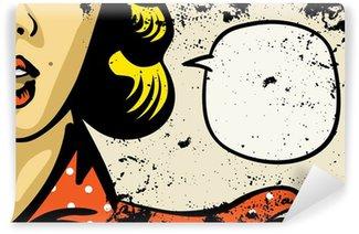 Carta da Parati in Vinile Retrò moda donna di fumetti