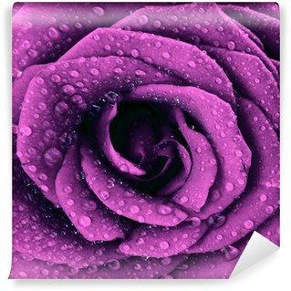 Carta da Parati in Vinile Rosa viola scuro sfondo