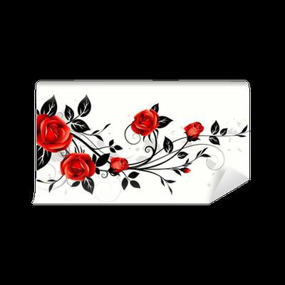 Carta da parati rose decorative pixers viviamo per il for Carte parati decorative