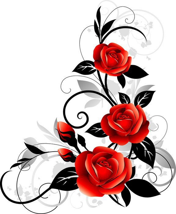 Carta da parati in vinile rose rosse pixers viviamo for Carta da parati vinile