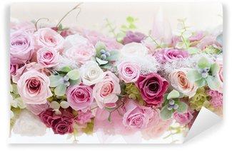 Carta da Parati in Vinile Roses Conserve Rose Rosa