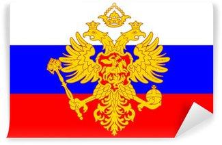 Carta da Parati in Vinile Russo stemma (aquila bicipite) sopra la bandierina