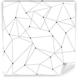 Carta da Parati in Vinile Scandinavo disegno geometrico senza soluzione di continuità moderno