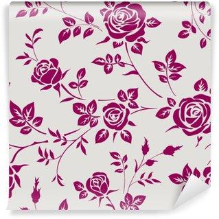 Carta da Parati in Vinile Seamless pattern con le rose