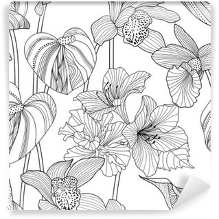 Carta da Parati in Vinile Seamless pattern floreale