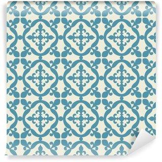 Carta da Parati in Vinile Seamless pattern. Portoghese, marocchina, a tegole curve.