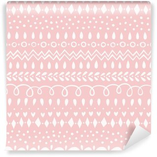 Carta da Parati in Vinile Seamless Pattern Rose Quartz