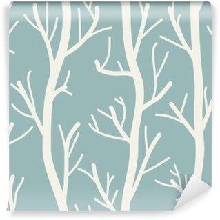 Carta da Parati in Vinile Seamless sfondo con gli alberi