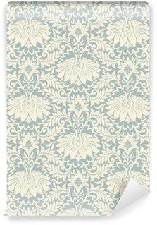 Carta da Parati in Vinile Seamless vintage flower pattern di sfondo vettoriale