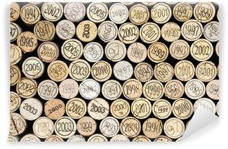 Carta da Parati in Vinile Sfondo di tappi per vino