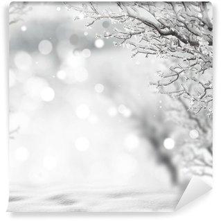 Carta da Parati in Vinile Sfondo invernale