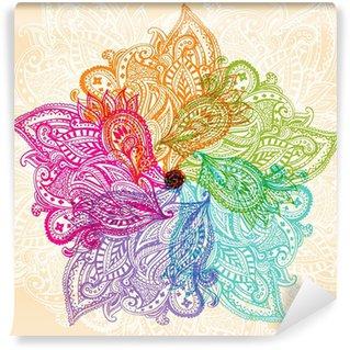 Carta da Parati in Vinile Simbolo Mandala