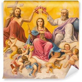 Carta da Parati in Vinile Siviglia - fresco neo-barocco di Incoronazione della Vergine Maria