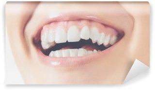 Carta da Parati in Vinile Sorriso denti donna felice