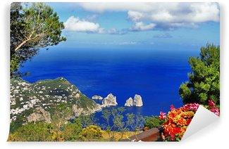 Carta da Parati in Vinile Splendida isola di Capri, la serie bella Italia
