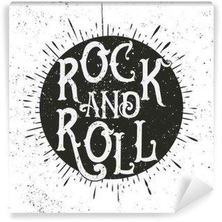 Carta da Parati in Vinile Stampa musica rock
